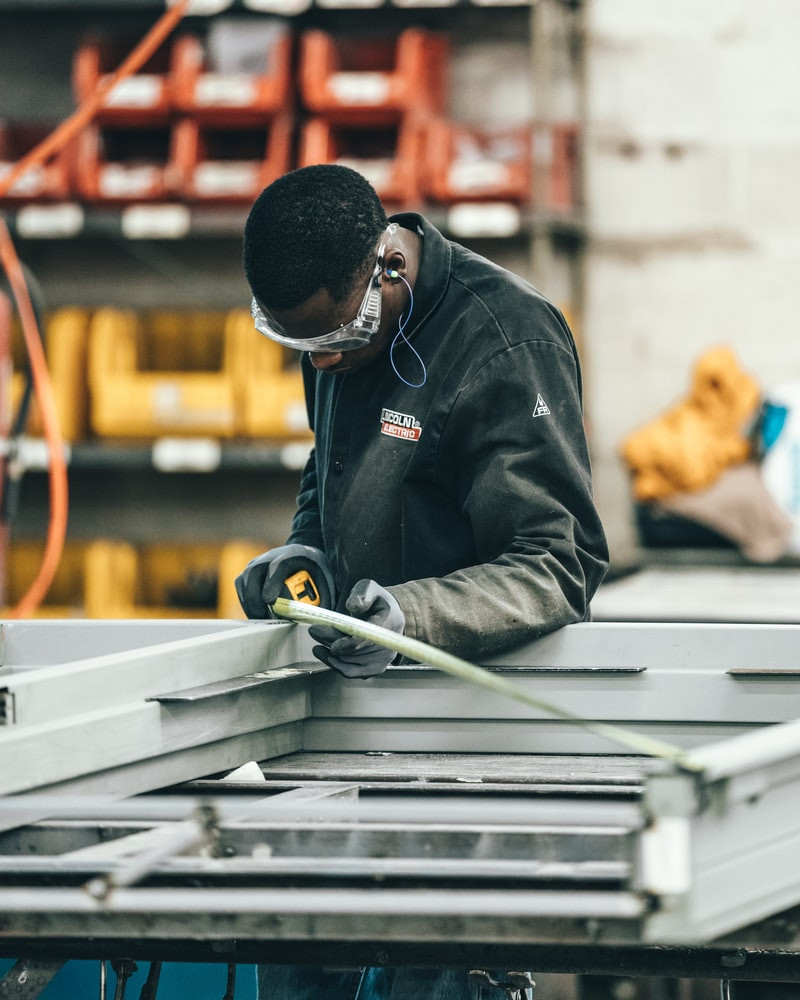 Person working in electrical manufacturing